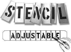 Adjustable Interlocking Brass Stencils