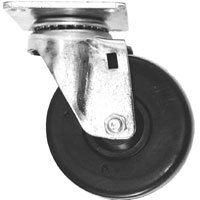 "LK46 4"" Rubber Swivel Caster"