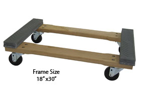 Rubber padded Hardwood Frame Dolly Truck