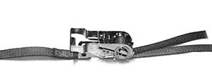 Hook-End Ratchet Buckle Tie-Down Strap