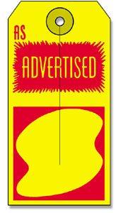 500 As Advertised Tag