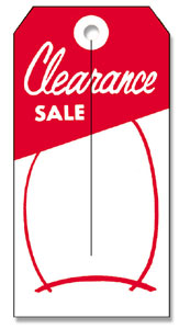 525 Clearance Sale Tag
