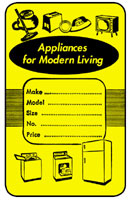 880A Appliance Tag