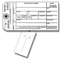 No. 110 Inventory Tag