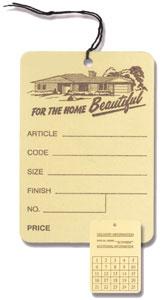 No. 210R Price/Furniture Tag