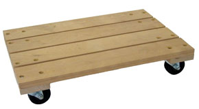 Solid Platform Wood Dolly Trucks